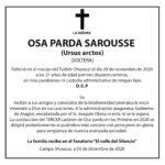 D.E.P. Osa SAROUSE asesinada en los Pirineos